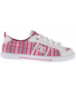 DC Fiona Skate Shoes White/Crazy Pink/Pink