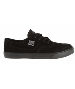 DC Flash Skate Shoes Black/Black/Battleship