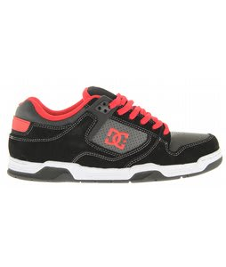 DC Flawless Skate Shoes Black/Athletic Red