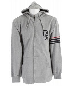 DC Focus Zip Hoodie Heather Galvanized