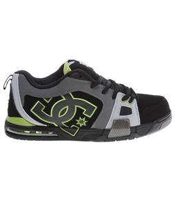 DC Frenzy Skate Shoes Black/Battleship/Soft Lime