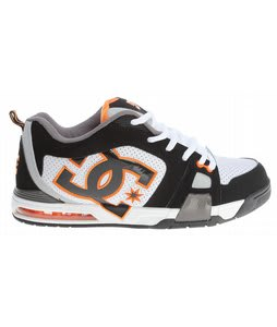 DC Frenzy Skate Shoes Black/White/Orange