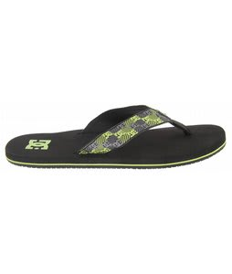 DC Habit Sandals Black/Black/Soft Lime