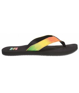 DC Habit Sandals Black/Rasta