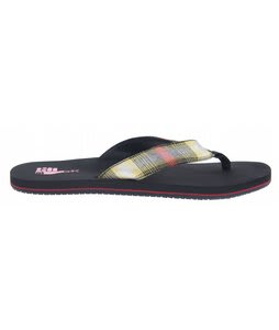 DC Habit TP Sandals Black/Red Plaid
