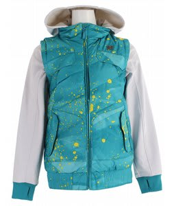 DC Holly Snowboard Jacket Lake Blue Splatter