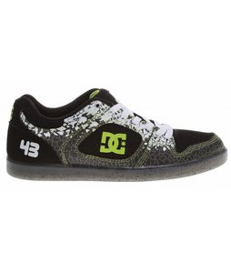 DC Ken Block Union SE Skate Shoes Black/Soft Lime Print