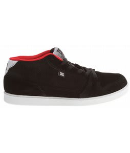 DC Landau Mid S Skate Shoes Black/White/Athletic Red