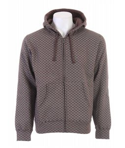 DC Monogramic Full Zip Hoodie Dk Chocolate