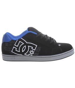 DC Net SE Skate Shoes Black/Turquoise/Battleship