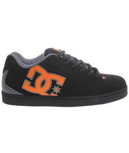 DC Net Skate Shoes Black/Fluorescent Orange