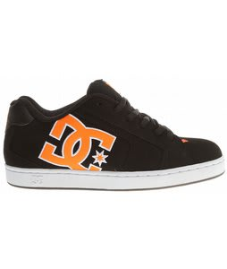 DC Net Skate Shoes Black/White/Orange