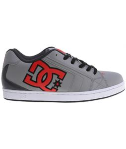 DC Net Shoes Grey/Grey/Red
