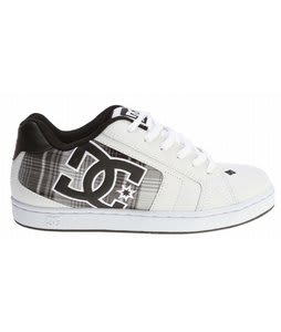 DC Net SE Skate Shoes White/Black Plaid
