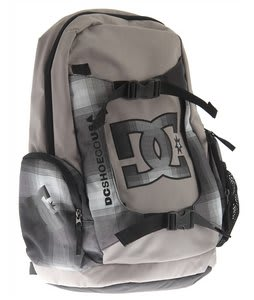 DC Parksten Backpack Black Plaid