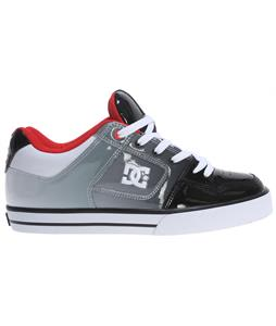 DC Pure SE Skate Shoes Black/Athletic Red/White