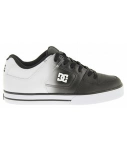 DC Pure SE Skate Shoes Black/White Fade