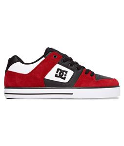DC Pure Shoes Black/Chili Pepper
