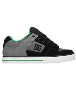 DC Pure Skate Shoes Black/Battleship/Emerald