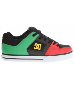 DC Pure Skate Shoes Rasta