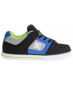 DC Pure TX Skate Shoes Black/Royal/Soft Lime