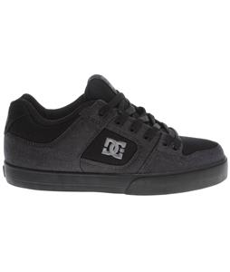DC Pure TX SE Skate Shoes Black/Pewter