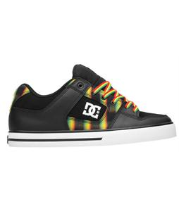 DC Pure XE Skate Shoes Black/Rasta