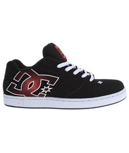 DC Raif Skate Shoes Black/White/Athletic Red