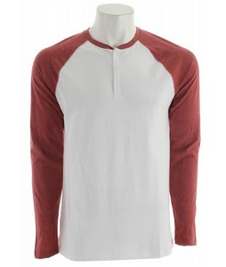 DC Rd Static Henley White/Red