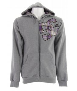 DC Reaction Zip Hoodie Heather Grey