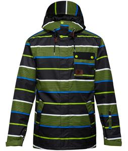 DC Reality Snowboard Jacket Tank Stripe Lime
