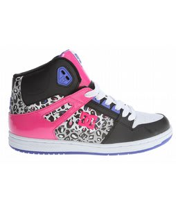 DC Rebound HI Skate Shoes Black/Print
