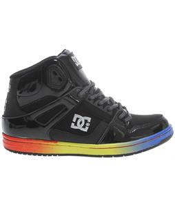 DC Rebound High LE Shoes Black/Rainbow