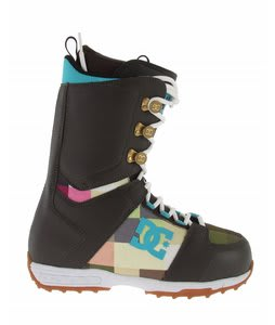 DC Rogan Snowboard Boots Dark Chocolate/Print