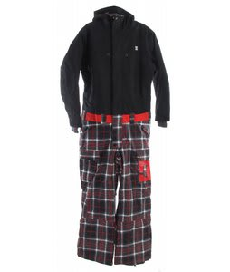 DC Scope Full Snow Suit Black/Plaid