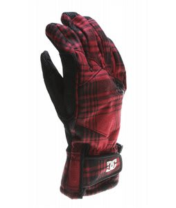 DC Seger Gloves Biking Red/Black