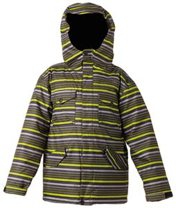 DC Servo Snowboard Jacket Green Stripe