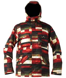 DC Servo Snowboard Jacket Red Plaid