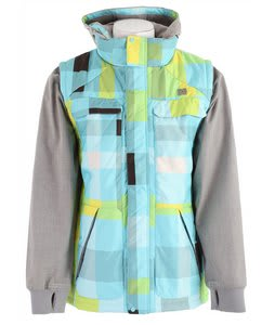 DC Silverton Snowboard Jacket Blue Radiance Plaid