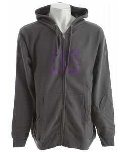 DC Small R Hoodie Charcoal Grey