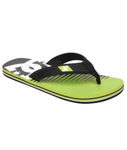 DC Snap Graffik Sandals Black/Soft Lime Print