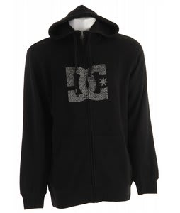 DC Snow Star Zip Hoodie Black