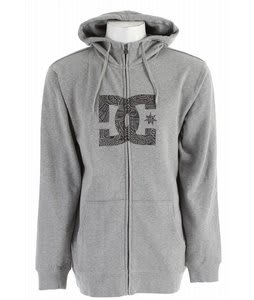 DC Snow Star Zip Hoodie Heather Galvanized