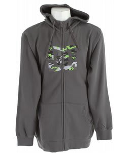 DC Snow Star Zip Hoodie Shadow