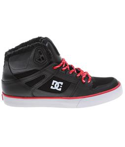 DC Spartan HI WC SE Skate Shoes Black/Athletic Red/Black