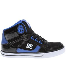 DC Spartan HI WC Skate Shoes Black/Nautical Blue