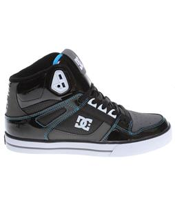 DC Spartan HI WC Skate Shoes Black/Turquoise/Black