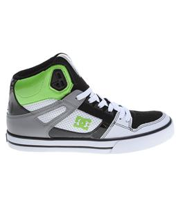 DC Spartan HI WC Skate Shoes White/Black/Soft Lime