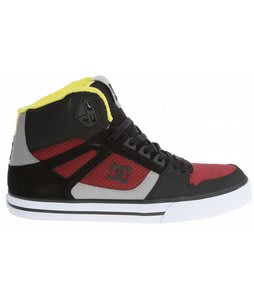 DC Spartan Hi WC Skate Shoes Black/Biking Red
