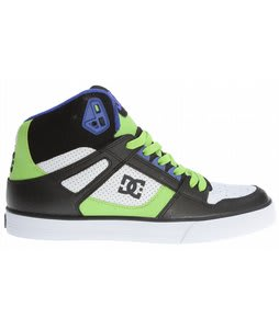 DC Spartan HI WC Skate Shoes Black/White/Soft Lime